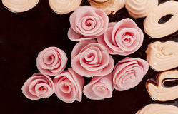 Cake with roses Royalty Free Stock Images