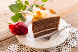 Cake with roses Stock Image