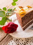 Cake with roses Stock Photos