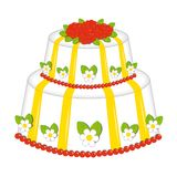 Cake of roses Stock Images