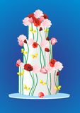 Cake with roses, Royalty Free Stock Image