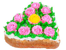 Cake with roses Royalty Free Stock Image