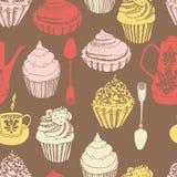 Cake seamless background Stock Photo