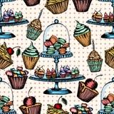 Cake seamless pattern Royalty Free Stock Image