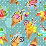 Cake seamless pattern Royalty Free Stock Images