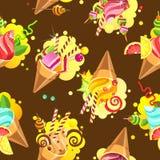 Cake seamless pattern Royalty Free Stock Photo