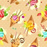 Cake seamless pattern Royalty Free Stock Photos