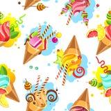 Cake seamless pattern Stock Photos