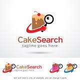 Cake Search Logo Template Design Vector Stock Image
