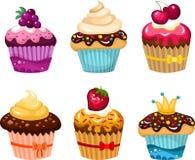 Cake set Royalty Free Stock Photo