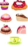 Cake set Stock Image