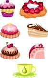 Cake set. Vector Illustration of a cake set Stock Image