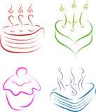 Cake set Royalty Free Stock Image