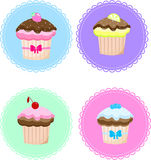 Cake  set delicious berry Royalty Free Stock Images