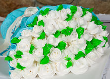 Cake in the shape of a bouquet of flowers Stock Images