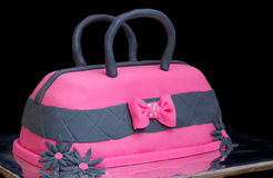 Cake in the shape of handbags Stock Images