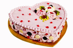 Cake in the shape of the heart Royalty Free Stock Photography