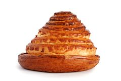 Cake in shape of pyramide Royalty Free Stock Photography