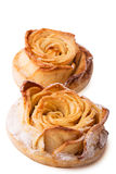 Cake in the shape of a rose Royalty Free Stock Photography