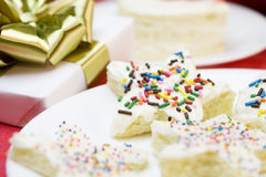 Cake in shape of star Stock Photos