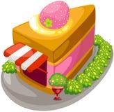 Cake shop. Illustration of isolated cake shop on white Royalty Free Stock Images