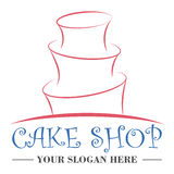 Cake shop logo design template Stock Images