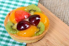 Cake from shortcake dough with fruit Stock Image
