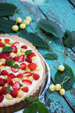 Cake with a shortcrust pastry Royalty Free Stock Images