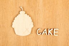 Cake. Silhouette Royalty Free Stock Photography