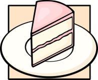 Cake slice in dish. Illustration of a cake slice in a dish Stock Image