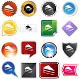Cake Slice Icon Set Stock Image