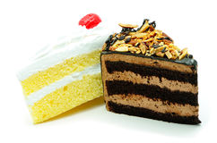 Cake slice isolated Stock Images