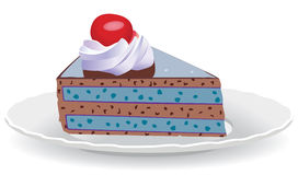 Cake slice on a plate Royalty Free Stock Photos