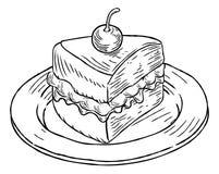 Free Cake Slice Vintage Retro Woodcut Style Royalty Free Stock Image - 102417816