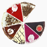 Cake slices Royalty Free Stock Images