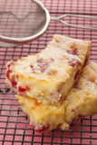 Cake slices. Raspberry and white chocolate slices Stock Photography
