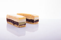 Cake slices royalty free stock photography