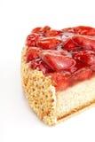 cake smaklig isolerad jordgubbe Royaltyfria Foton