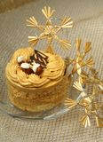 Cake and snowflakes Royalty Free Stock Photo