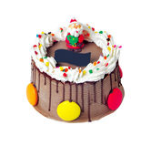 Cake, snowmen Christmas ice cream cake Stock Images