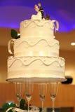 cake som wededing Royaltyfri Bild