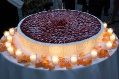 cake som weding Royaltyfria Bilder