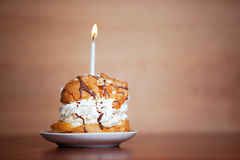 Cake for a special moment like birthday. Candle Stock Images