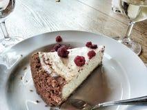 Cake with spoon Stock Photos