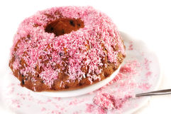 Cake with sprinkles Royalty Free Stock Images
