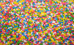 Cake sprinkles bacground Royalty Free Stock Image