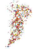 Cake Sprinkles Scattered over White Background Stock Images