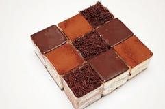 Cake. The cake,Square lattice cake royalty free stock photography