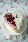 The cake for St. Valentine's Day Stock Image