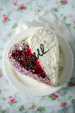 The cake for St. Valentine's Day Stock Photos